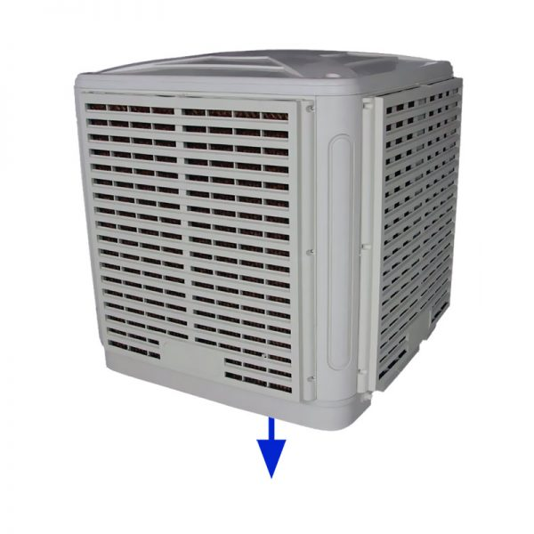 20k m3 down discharge fixed evaporative air cooler